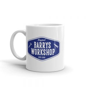 Barry's Workshop Mug – Blue Logo
