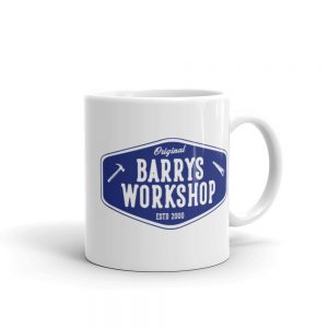 Barry's Workshop Mug – Blue Logo